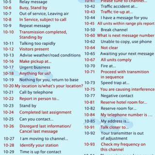 cb radio 10 codes
