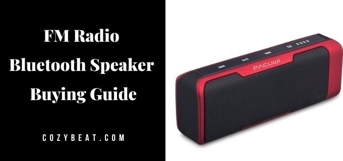 FM Radio Bluetooth Speaker Buying Guide